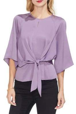 Vince Camuto Gilded Rose Bell-Sleeve Blouse