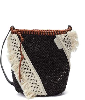 3.1 Phillip Lim 'Marlee' mini colourblock crochet knit panel woven crossbody bag