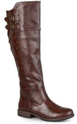 Co Brinley Womens Round Toe Buckle Detail Boots