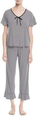 Kate Spade Spring Stripe Cropped Pajama Set