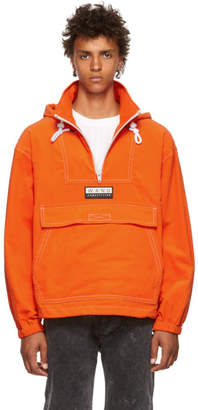 Alexander Wang Orange Baby Corduroy Anorak Jacket