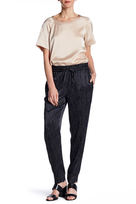DKNY Stripe Drawstring Pull On Pant