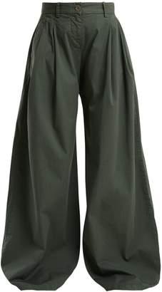 Nili Lotan Seville wide-leg stretch-cotton trousers