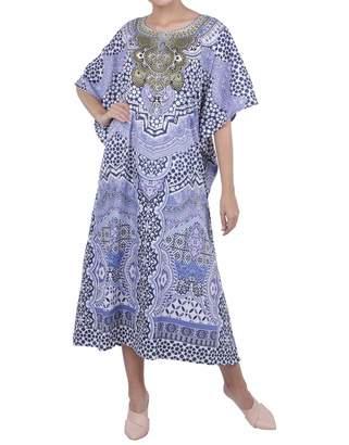 77f9aa5e8d6 Miss Lavish London Kaftan Tunic Maxi Dress Sleepwear Embellished Kimonos