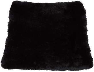 Yves Salomon Black Fur Snood Scarf