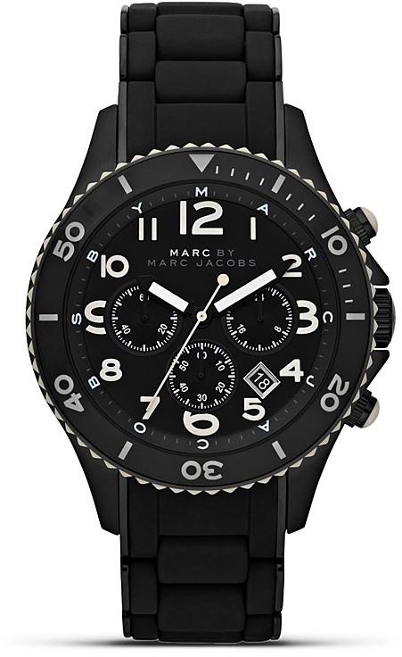 MARC BY MARC JACOBS Black Chrono Bracelet Watch, 46mm