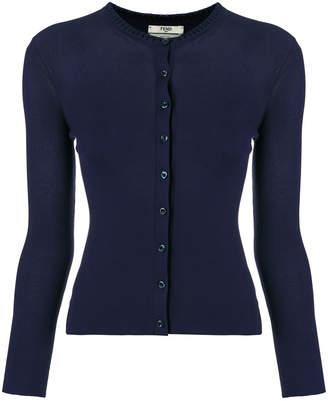 Fendi long-sleeve fitted cardigan