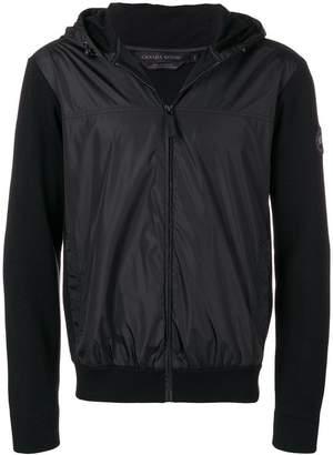 Canada Goose zipped two tone hoodie