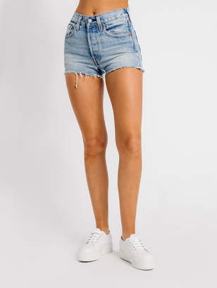 Levi's 501 High Rise Shorts in Bring to Light Denim
