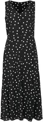 WallisWallis Black Polka Dot Midi Dress