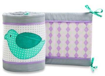Pam Grace Creations Love Birds Crib Bumper