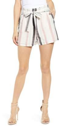 Vero Moda Tie Waist Stripe Shorts