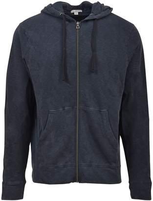 James Perse Blue Hooded Zip-up Jacket