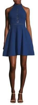 Aidan Mattox Lace Halter Dress