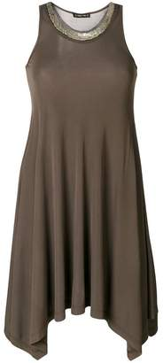 Plein Sud Jeans embellished neckline tank dress