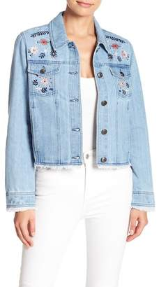 Cupcakes And Cashmere Bestel Embroidered Denim Jacket