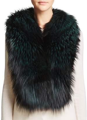 Maximilian Furs Airgallon Fox Fur Scarf