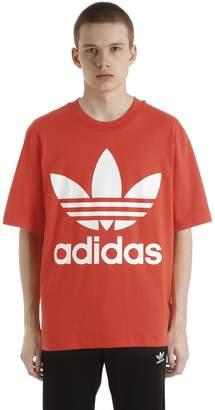 adidas Oversized Logo Cotton Jersey T-Shirt