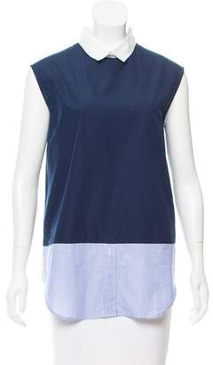 Boy By Band Of Outsiders Sleeveless Collared Top