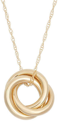 FINE JEWELRY Made In Italy Womens 14K Gold Knot Pendant Necklace