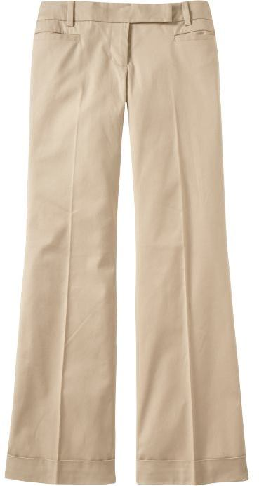 Women's Wide-Leg Cuffed Trousers