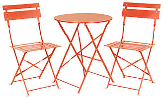 John Lewis & Partners House by Brighton Garden Bistro Table and Chairs Set, Flame