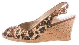 Stuart Weitzman Printed Wedge Sandals