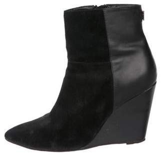 Ted Baker Suede Wedge Ankle Boots Black Suede Wedge Ankle Boots