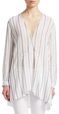 Halston Oversize Stripe Tunic Top