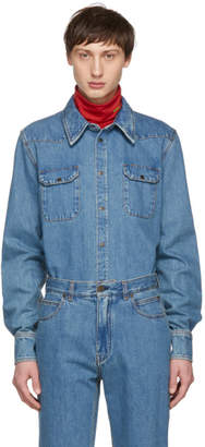 Calvin Klein Blue Denim Shirt