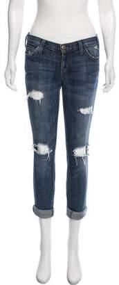 Current/Elliott Loved Destroy Low-Rise Jeans