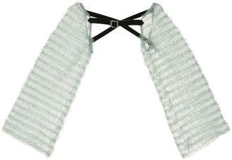 Tu Es Mon Trésor military-inspired tulle sleeves