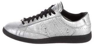 Maison Margiela Foiled Leather Sneakers