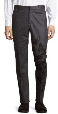 Jack Victor Embroidered Wool Pants