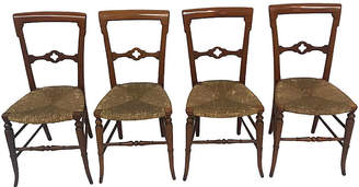 One Kings Lane Vintage 19th Cent. Gothic Dining Chairs - Set of 4 - Madcap Cottage