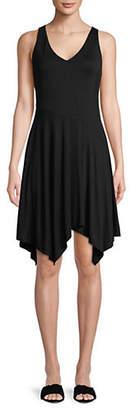 INC International Concepts Petite Sleeveless Asymmetrical-Hem Dress