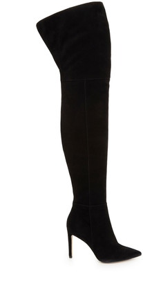 Bernadette Suede Over-the-Knee Boot $300 thestylecure.com