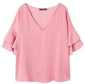 Violeta BY MANGO Ruffled sleeve blouse