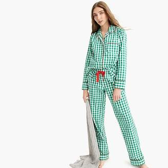 J.Crew Vintage pajama set in green gingham