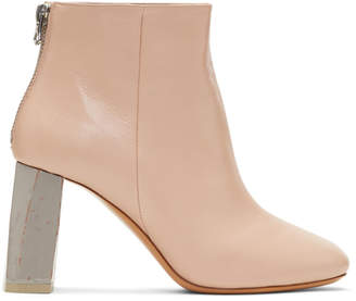 Acne Studios Pink and Grey Claudine Boots