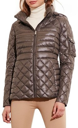 Women's Lauren Ralph Lauren Packable Down Jacket With Detachable Hood $200 thestylecure.com