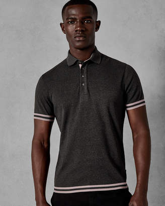Ted Baker FIZYFAN Stripe detail cotton polo shirt