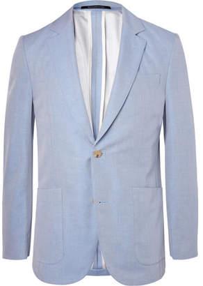 Richard James Blue Slim-Fit Cotton-Twill Blazer