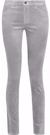 J Brand 815 Metallic Cotton-Blend Velvet Skinny Pants