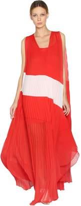 Krizia Silk Plisse Long Dress