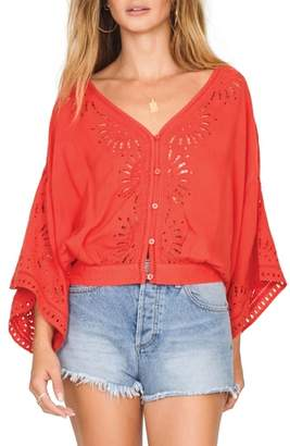 Amuse Society Serenade Flare Sleeve Top