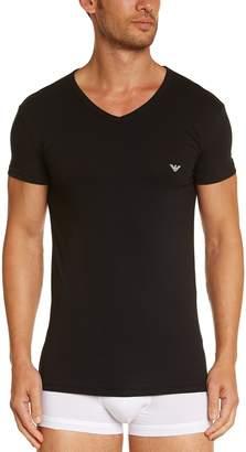 Emporio Armani Eagle Stretch Cotton V-Neck Men's T-Shirt
