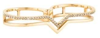 Paige Novick Phyne by 14K Diamond Double Finger Ring