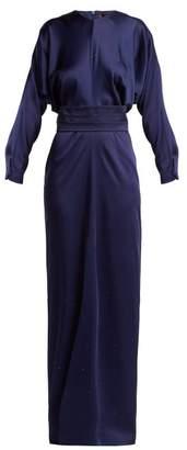 Max Mara Pagode Dress - Womens - Dark Blue