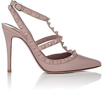 Valentino Women's Rockstud Leather Ankle-Strap Pumps - Nudeflesh
